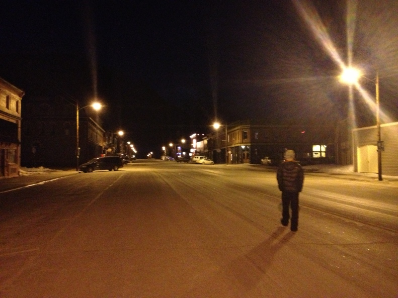 Wide streets filled with nothing and noone in Silverton. The tumbleweeds had probably frozen to death