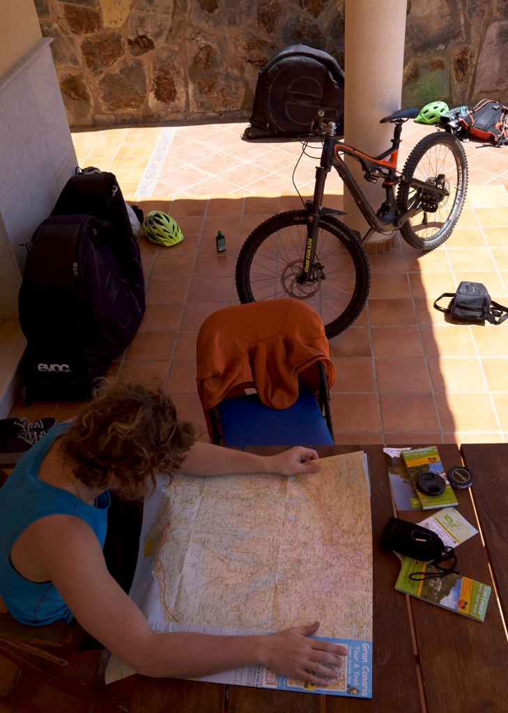 Packing up bikes, studying maps, a porch is good for many things. Photo by Andrea